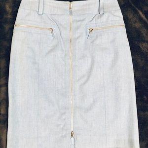 Carlisle light denim skirt